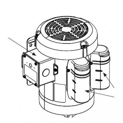 Hysecurity Motor Electric 60hz 1 Hp 1 Phase 1725 Rpm 115208